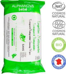 ALPHANOVA BEBE Alphanova Bebe, Ekologiczne chusteczki biodegradowalne z oliwą, 60 szt.