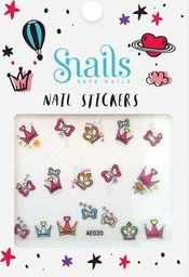 Snails Snails, Naklejki na Paznokcie Perfect Princess dla dziewczynek