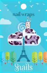 Snails Naklejki na paznokcie, Nail Wrap – Purple Zebra, fioletowa zebra