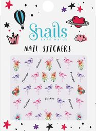 Snails Snails, Naklejki na Paznokcie Flamingos