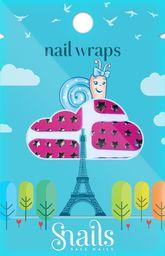Snails Snails, Naklejki na paznokcie, Nail Wrap  – Pink Stars, różowe gwiadzy