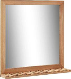 Lustro vidaXL Lustro łazienkowe, 60x12x62 cm, z ramą z drewna orzechowego