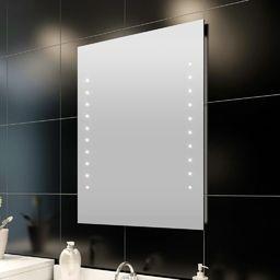 Lustro vidaXL Lustro łazienkowe LED, 50 x 60 cm