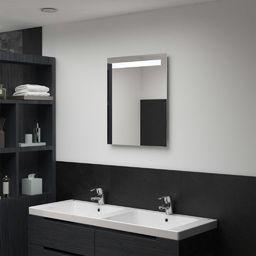 Lustro vidaXL Ścienne lustro łazienkowe z LED, 50 x 60 cm