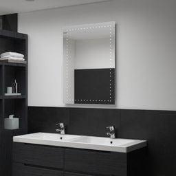 Lustro vidaXL Ścienne lustro łazienkowe z LED, 60 x 80 cm