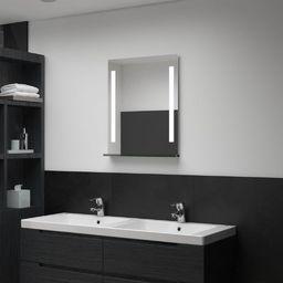 Lustro vidaXL Ścienne lustro łazienkowe z LED, z półką, 50 x 70 cm