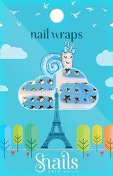 Snails Naklejki na paznokcie, Nail Wrap – Blue Stars, niebieskie gwiadzy