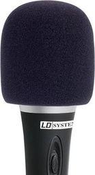 LD Systems Osłona przeciwwietrzna do mikrofonu | Owiewka | Gąbka mikrofonowa- czarna