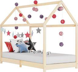 vidaXL Rama łóżka dziecięcego, lite drewno sosnowe, 70 x 140 cm