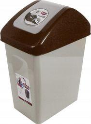 Kosz na śmieci Branq do segregacji uchylny 10L brązowy (BRA000235)