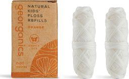 Georganics Georganics, Naturalna Nić Dentystyczna dla dzieci, Sweet Orange, 30mx2, REFILL