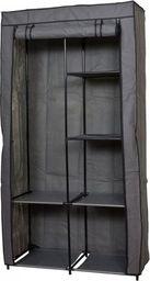 Saska Garden Szafa tekstylna garderoba ciemny szary 88x46x170 cm
