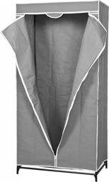 Saska Garden Szafa tekstylna garderoba jasny szary 80x50x160cm