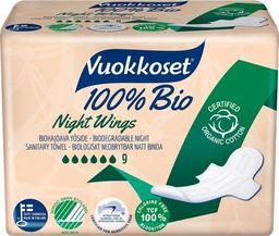 Vuokkoset Vuokkoset, 100% BIO, Podpaski ze Skrzydełkami na noc,  9szt.