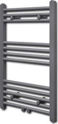 Grzejnik łazienkowy vidaXL Grzejnik łazienkowy, prosty 500 x 764 mm, szary