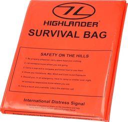 Highlander Highlander Płachta Biwakowa Survival Bag 120×210 cm Pomarańczowa uniwersalny