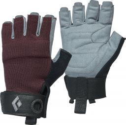 Black Diamond Rękawice wspinaczkowe Women's Crag Half-Finger Gloves bordowe r. L (BD8018686018LG_1)