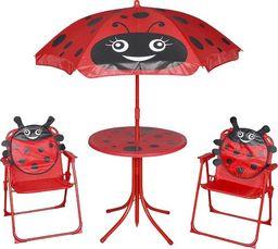 Elior zestaw mebli ogrodowych dla dzieci Lummo, czerwony (4172)