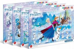 Clementoni Puzzle ramkowe 15 Super kolor Frozen 2