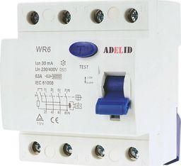 ADELID ADELID Wyłącznik różnicowoprądowy 4P 63A 30mA typ AC WR6