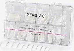 Semilac Tipsy naturalne Semilac 120 szt. uniwersalny