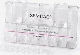 Semilac Tipsy przezroczyste Semilac 120 szt. uniwersalny