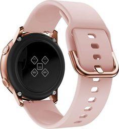 Alogy Pasek do Samsung Galaxy Watch Active 2 Alogy soft gumowy Różowy uniwersalny