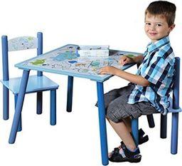 Kesper Stolik + dwa krzesełka dla dzieci KESPER Dino niebieski uniwersalny
