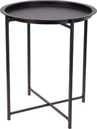 Home Styling Collection Stolik kawowy METALOWY czarny modern LOFT okrągły uniwersalny