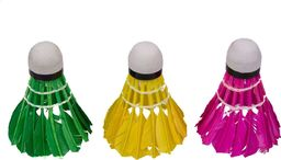 VIVO Lotki do badmintona Vivo piórowe kolorowe 3szt C-200  Uniwersalny