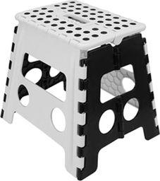 Ravi Taboret składany antypoślizgowy 32cm biało-czarny