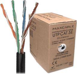 Przewód Maxcable Maxcable Przewód teleinformatyczny miedziany UTP 5e CU ŻELOWANY czarny opakowanie 305mb