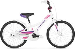 """Kross Rower Kross MINI 5.0 20"""" biały-fioletowo-różowy połysk Uniwersalny"""