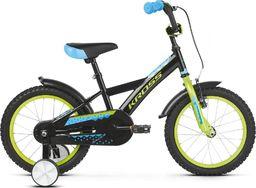 """Kross Rower Kross RACER 3.0 16"""" czarny-limonka-niebieski połysk Uniwersalny"""