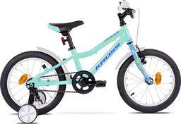 """Kross Rower Kross MINI 4.0 16"""" turkusowy-niebieski-zielony połysk Uniwersalny"""