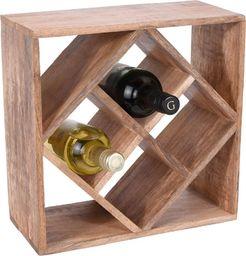 Home Styling Collection Stojak NA WINO butelki regał półka drewniana uniwersalny