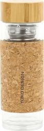 Yoko Design Butelka z sitkiem brązowy 350ml