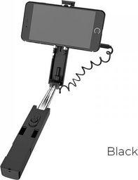Selfie stick Borofone Borofone - selfie stick 76 cm z pilotem kablowym, czarny