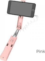 Selfie stick Borofone Borofone - selfie stick 76 cm z pilotem kablowym, różowy