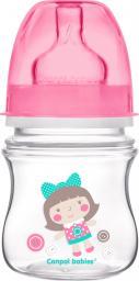 Canpol Butelka szeroka antykolkowa Toys różowa 0m+ 120ml