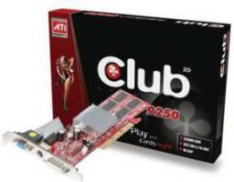 Karta graficzna Club 3D Radeon 9250 256MB 9250 256MB 128BIT DVI TV