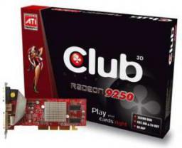 Karta graficzna Club 3D Radeon 9250 9250 128MB 64BIT DVI TV