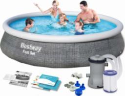 Bestway Basen Rozporowy 13FT Szary 396x84cm