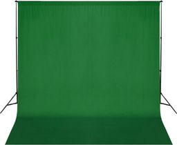 vidaXL Zielone, bawełniane tło fotograficzne, 300 x 300 cm, chroma key