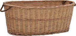 vidaXL Kosz na drewno, z uchwytami, 88x57x34 cm, naturalna wiklina