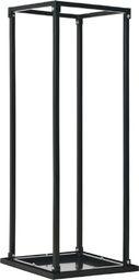 vidaXL Stojak na drewno z podstawą, czarny, 37x37x113 cm, stalowy