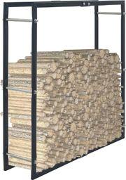 vidaXL Stojak na drewno opałowe, czarny, 100 x 25 x 100 cm, stalowy