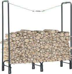 vidaXL Stojak na drewno opałowe, antracyt, 120 x 35 x 120 cm, stalowy