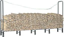 vidaXL Stojak na drewno opałowe, antracyt, 240 x 35 x 120 cm, stalowy