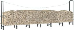 vidaXL Stojak na drewno opałowe, antracyt, 360 x 35 x 120 cm, stalowy